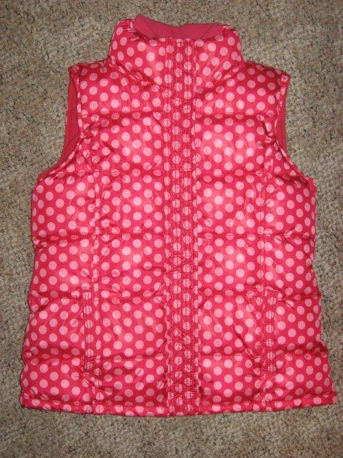 GAP-KIDS-Girls-Pink-Dot-Fleece-Lined-Winter-VEST-Jacket-Coat-M-8-or-XXL-14-16