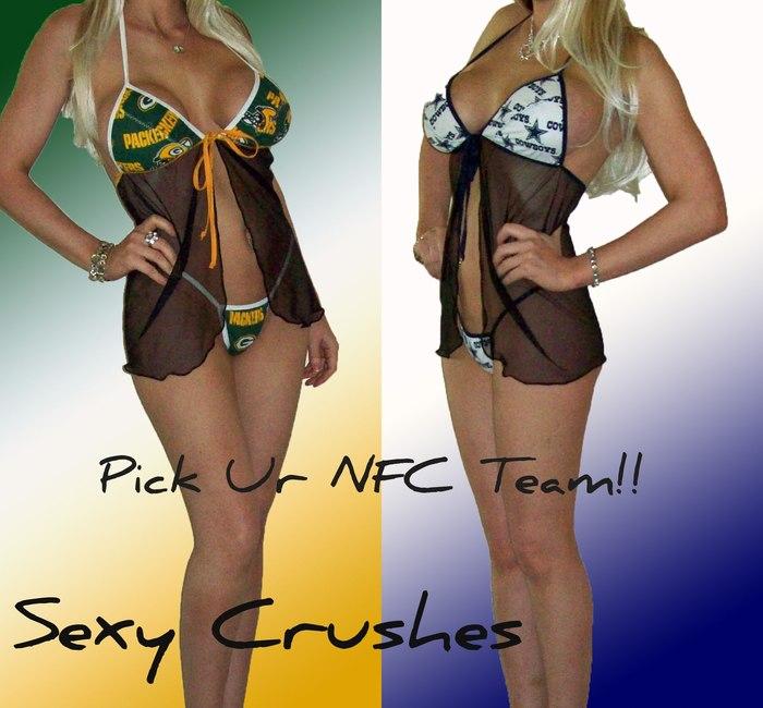 NFL-Lingerie-SEXY-Babydoll-Set-Pick-Ur-NFC-Team